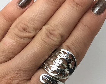 925 sterling silver lace ring,Adjustable ring,ethnic ring,boho ring,gypsy ring