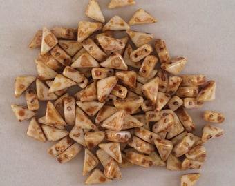 Tango Beads, 6mm, Butter Pecan, TG/BP/6, 60 Beads, Czech Glass