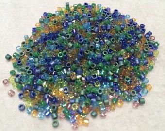Miyuki Delica Beads, 10/o, Prairie Mix, DBM-MIX20, 5 Grams, Japanese Glass
