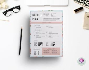 floral cv template cover letter reference letter elegant resume template