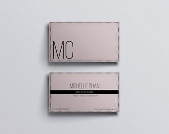 Elegant business card template / Modern, chic business card template / Business card design ( pastel color )