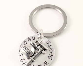 Nurse Keychain, Nurses Call the Shots Hand Stamped Keychain, Charm keychain, for her, nurse graduation, nursing school