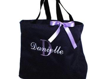 Bridesmaid Tote Bags Set of 3 - Personalized Tote Bags - Monogrammed Tote Bags - Monogrammed Totes - Wedding Totes - Bridesmaid Totes