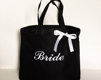 Bridesmaid Tote Bags Set of 4 - Bridesmaid Totes - Bridesmaid Gifts - Personalized Totes - Personalized Tote Bags - Simply Name It - Totes