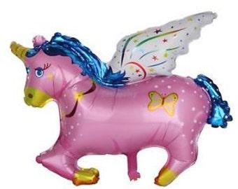 "UNICORN balloon 43"". Jumbo unicorn balloon. Unicorn balloons. Rainbow balloons. Magical party. Unicorn party supplies. Unicorn decor."