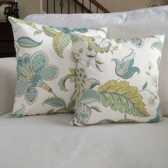 Jacobean Decorative Pillows : Jacobean Throw Pillow Cushion Cover Designer by MarolizanaDesigns