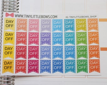 Day Off Flag Sticker for Erin Condren Life Planner! | 043