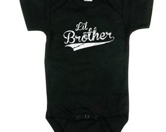 Little Brother Shirt - Little Brother Baseball shirt - Brothers sibling shirt, BBSib