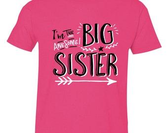 Big Sister Shirt, Big Sister Outfit, Big Sister, Big Sister Graphic Tee, Big Sister, Big Sister Hipster, Birth Announcement, HipSib