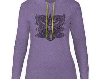 Mintage Asian God Womens Fine Jersey Hooded T-Shirt