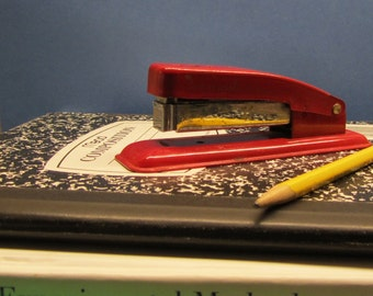 Retro Red Swingline Stapler Vintage Office Space Red Cub Swingline Stapler Distressed Office Supply Size 77 Cub Staples