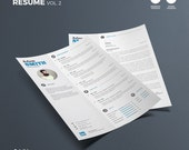 Clean Resume Vol. 2 | Word and Indesign Template | Professional and Creative Resume Design