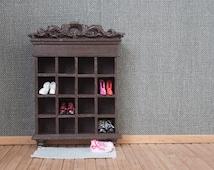 Miniature Shoe closet 1:12, handmade - Dollhouse miniature