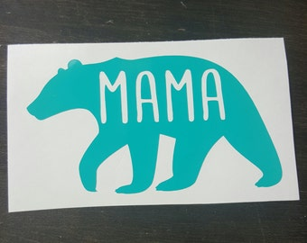 Mama bear decal,mom,decal,vinyl,vinyl sticker,laptop decal,Mama,Bear,Car decal, gift,coffee cup decal,bear,tumbler decal,vinyl,vinyl decal