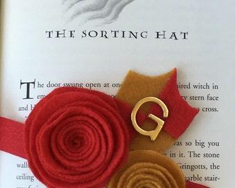 Gryffindor Harry Potter House Felt Flower Headband