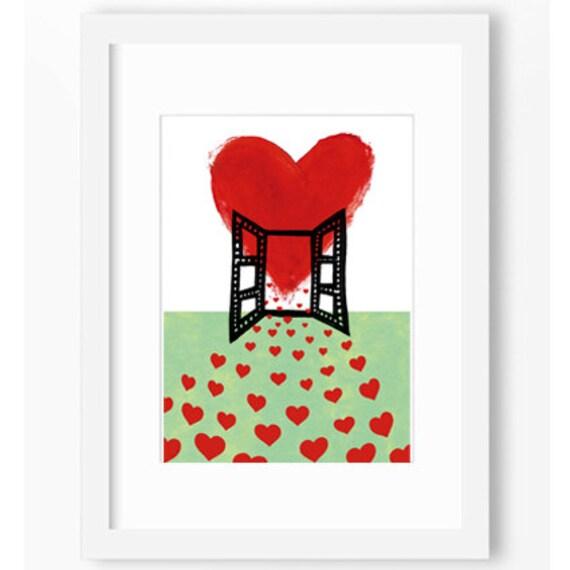 window love illustration affiche pop art home decor print home. Black Bedroom Furniture Sets. Home Design Ideas