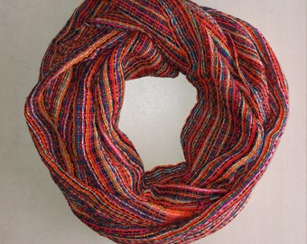 Multicolor Scarf, Wrap Scarf, Bufanda, Foulard, Spring  Scarf, Women Scarves, Gifts For Her, Accessories