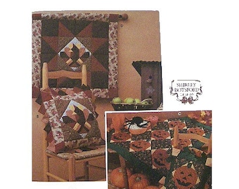 Simplicity Halloween & Thanksgiving Quilt Pattern Uncut Simplicity 9788 Shirley Botsford Pillow Sham,Quilt,Wall Hanging Holiday Sewing