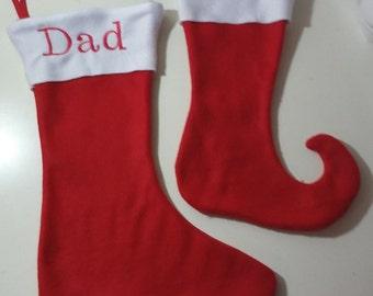 Personalized Christmas fleece stockings