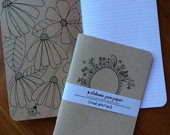 Medium-Size Hand-Drawn (lined) Journal