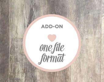 Add-on Listing | One Additional File Format