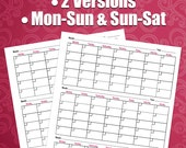 3 Month Calendar - Printable Planner Sheets, 8.5X11 Letter Sized, Great For ARC or 3 Ring Binder, DIY Printing, Business, Entrepreneur