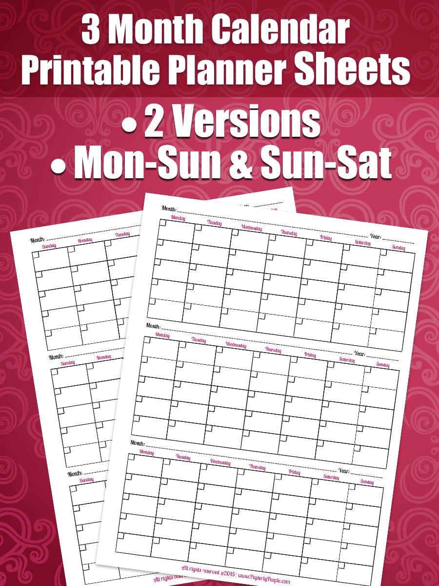 Calendar Planner By Month : Month calendar printable planner sheets letter