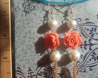 Rose Dangle Earrings
