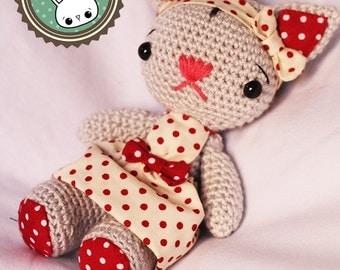 Pepita the Cat (amigurumi) plush crochet