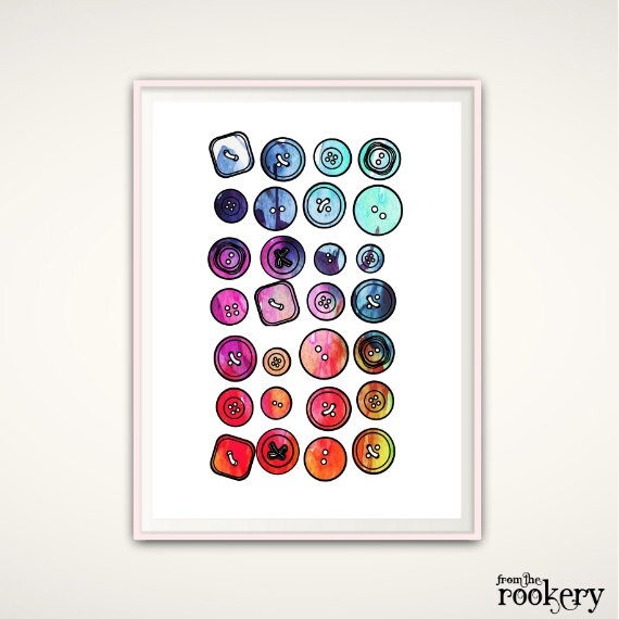 Wall Decor Craft Room : Craft room wall art button decor