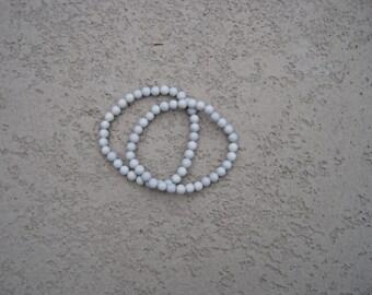 Black Spotted Feldspar Beaded Bracelet (2)
