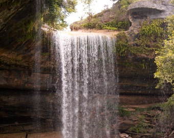 """Fine Art-Gallery Wrapped Canvas-""""Hamilton Pool Waterfall"""""""