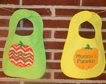Applique Mommy's Pumpkin Bib