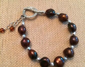 Chocolate Pearl Bracelet #26