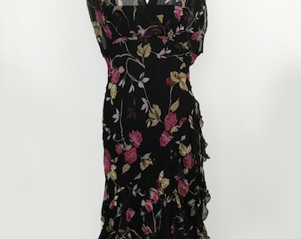 Floral 90s Asymmetric Pleat Tank Dress by Romerecci