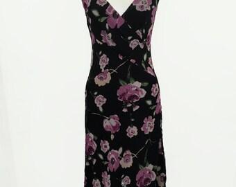 Floral 90s Wrap Tank Dress by Romerecci