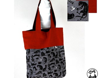 Tote shopping bag cats