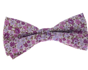 Floral Bowtie.Wedding Bowtie.Mens Fashion.Cotton Floral Prints.Wedding Gifts.Bowtie Gifts.Matching Set