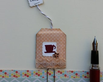 Vintage Tea Bag Paper Clip