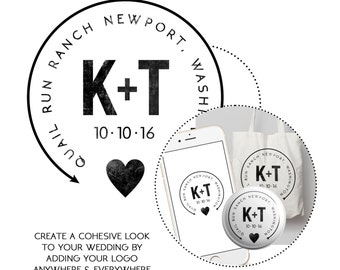 Multipurpose Wedding Logo | CUSTOMPRINT | Decal | Custom Brand | Logo | Printable | Download | Use for Website | Pins | Welcome Bags | Etc.