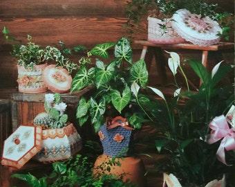 Annie's Attic Plastic Canvas Pretty Plant Pot Covers II Pattern by Laura Doyle #87G26