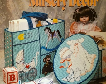 Annie's Attic Plastic Canvas Heirloom Nursery Decor Pattern by Darla Fanton #87H38