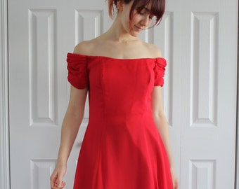 Evening dress, bridesmaid,  red , Size 8 Us, 38 Eur