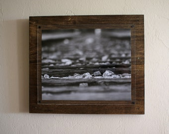 Black & White Railroad Tracks - Wall Art - Fine Art - Home Decor