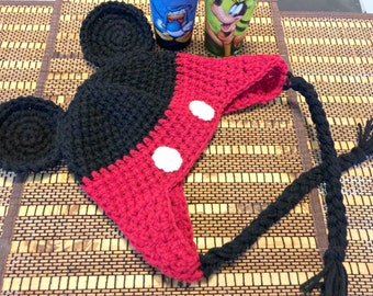 Cute Mouse Ears Hat - Handmade Crocheted Hat for Newborn to Adult Sizes