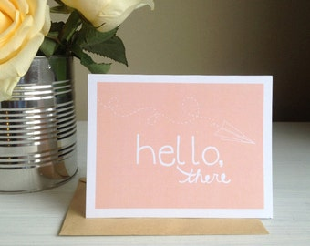 Hello There Greeting Card set of 5 | Greeting Card, handmade greeting card, Hello greeting card, Just because greeting card, blank card set