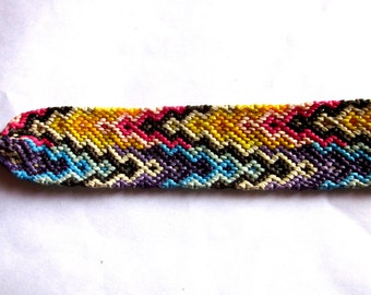Colorful Ombre Wide Macrame Friendship Bracelet