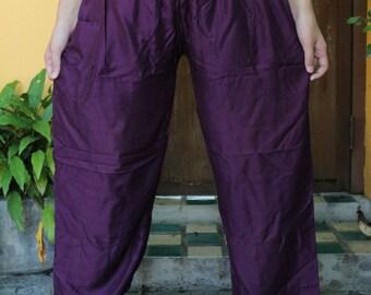 Harem Pants Yoga pants Hippie Classic Design Purple