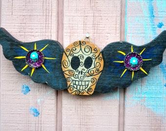 Mexican Folk Art // Day of the Dead Mexican Folk Art // Wood Folk Art