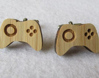 Xbox Controller Bamboo Cufflinks (WD295)